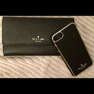 Kate Spade Saffiano Leather Wallet/iPhone 6/7 Case